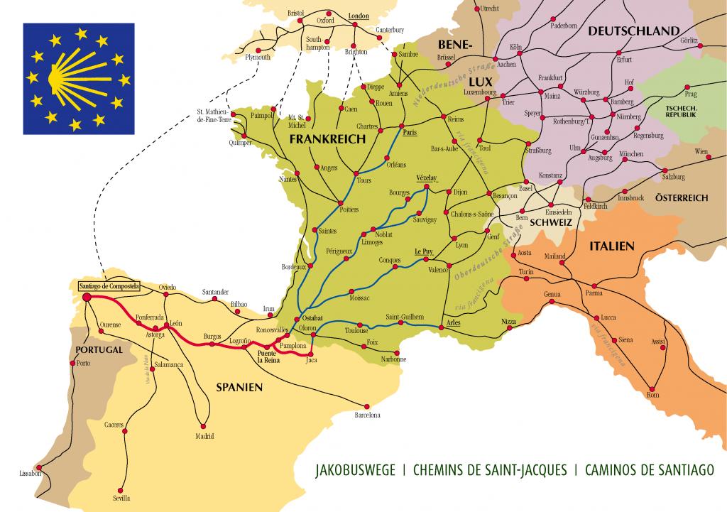 Camino Ways Map